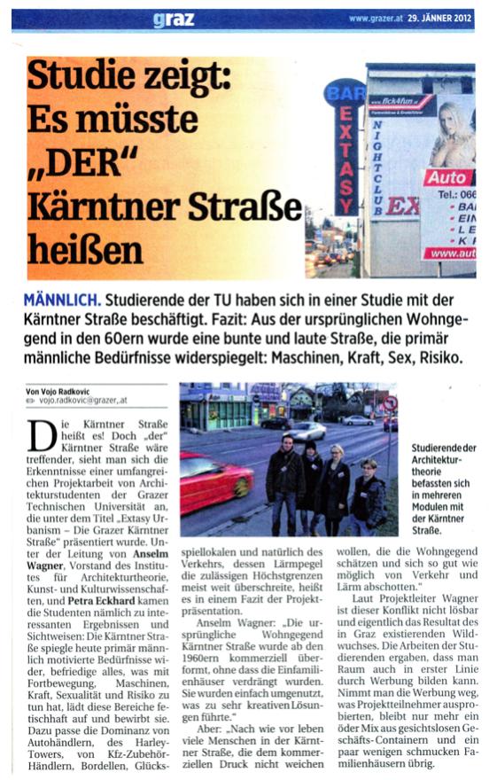 """Link zu <i>""""Studie zeigt: Es müsste 'DER' Kärtner Straße heißen&#8220;</i>, in: der Grazer, 29.01.2012"""